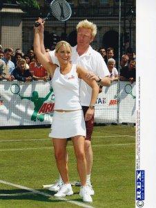 Zoe Lucker Boris Becker London Ariel Celebrity Tennis Tournament 2005 Press P...