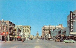AUSTIN, TX Broad Congress Avenue Street Scene c1950s Vintage Postcard
