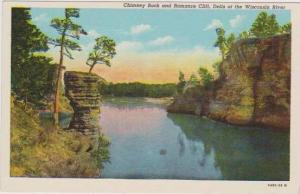 Scenic View of Chimney Rock and Romance Cliff, Dells of the Wisconsin River, ...
