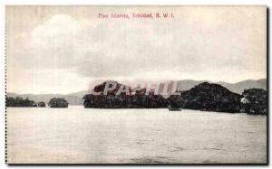 Postcard Old Five Islands Trinidad