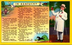 Kentucky Poem In Kentucky By Jas H Mulligan With Kentucky Gentleman