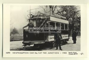 pp0126 - Southampton Tram no 1 at The Junction in 1900 - Pamlin postcard