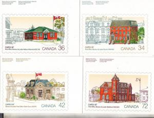 Canada Capex 87 Post Offices on Stamps - Set of 4   Unused
