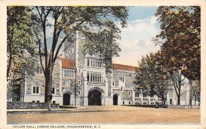 Poughkeepsie New York~Vassar College~Taylor Hall~1916 Postcard