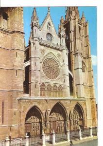 Postal 045612 : Leon. Catedral. Fachada Principal