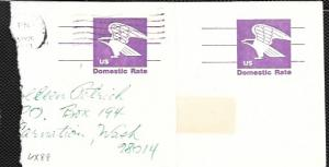 US 2 Used Pre-stamped Postcards UX88 Eagle - Domestic Rate