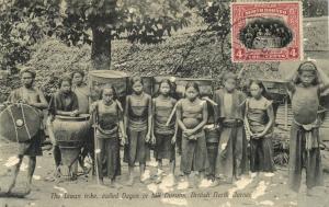 british north borneo, Liwan Tribe Natives, Dagas or Hill Dusuns (1910s)