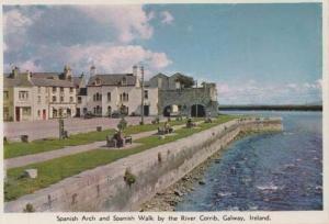 Spanish Arch Walk Walkway River Corrib Galway Ireland Irish Postcard