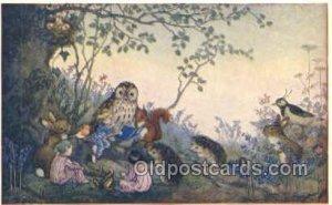 PK 233 Artist Molly Brett, The Medici Society, Owl Unused