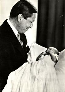 Dutch Prince Claus von Amsberg with Baby Prince Willem-Alexander (1967)