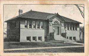 Newark New York Public Library Exterior Antique Postcard K11990