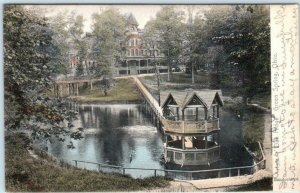 GREEN SPRING, Ohio OH  Handcolored OAK RIDGE Rotograph UDB 1906  Postcard