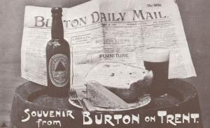 Burton On Trent Newspaper Daily Mail Advertising Beer Bass Postcard