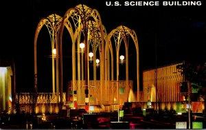 Washington Seattle World's Fair U S Science Pavilion At Night