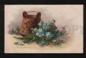 053840 Forget-me-not w/ VASE by C. KLEIN vintage TSN Publ. PC
