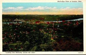 Ohio Hamilton Ironton Birds Eye View Curteich