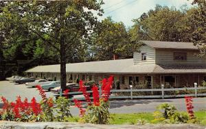 Blowing Rock North Carolina~Azalea Gardens Motel on Main Street~Classic Cars~'60