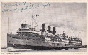Steamer Greater Detroit D & C Navigation Company 1940
