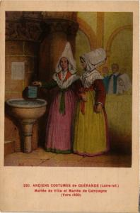 CPA Anciens Costumes de Guérande FRANCE FOLKLORE (788250)