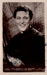 Carl Brisson in The Manxman Hand Signed Real Photo Postcard