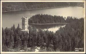 finland suomi, AULANKO, Aerial View (1949) RPPC