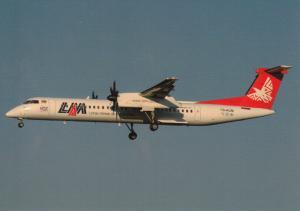 LAM MOCAMBIQUE, Dash 8Q-402, unused Postcard