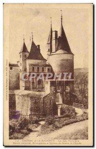 Old Postcard Chateau of Rochepot Both Levis Bridges