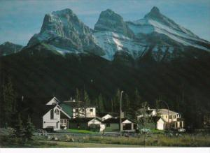 Canada The Three Sisters Mountain Canmore Alberta