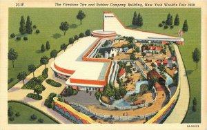 Birdseye Cooper Teich Firestone New York World's Fair Rubber Postcard 21-1572