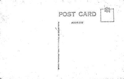 RPPC CARLSBAD HOTEL Fireplace, Interior Carlsbad, CA c1940s Vintage Postcard