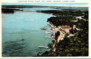 Iowa East and West Okoboji Lakes Arnolds Park