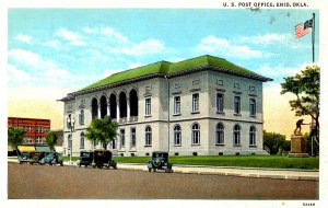 Enid, Oklahoma - A view of the U.S. Post Office - c1920