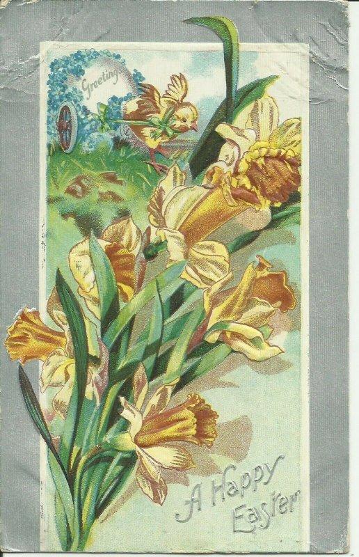 A Happy Easter greetings--Embossed