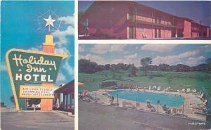 1950s Holiday Inn Hotel Pool Mission Kansas Hayes postcard 13019