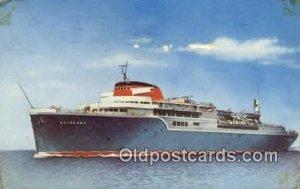 The Aquarama Line Steam Ship 1961 tape on front corners, postal used 1961