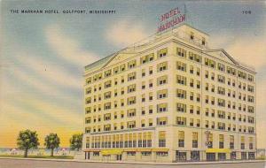 The Markham Hotel, Gulfport, Mississippi, PU-1943