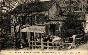 CPA Paris 18e Vieux Montmartre Cabaret artistique du Lapin Agile (284506)