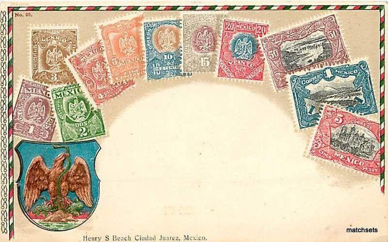 Circa 1905 Stamps MEXICO Henry S. Beach 1784 postcard