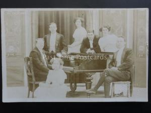THE EXCELSIORS Opera / Musical Singers - Old RP Postcard by E. Cooke of Plymouth