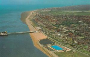 St Annes On Sea Manchester Airport Spectacular 1970s Aerial Postcard