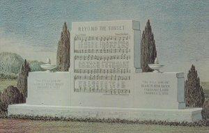 Sunset Memorial , Winona Lake , Indiana , 50-60s