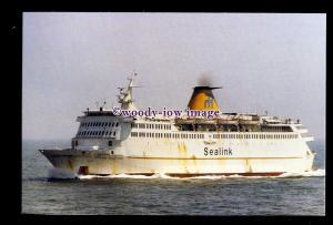 SIM0258 - RMT-Sealink Chartered Ferry - Stena Nautica , built 1974 - postcard