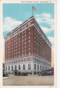 Exterior,  Hotel Abraham Lincoln,  Springfield,  Illinois,  30-40s