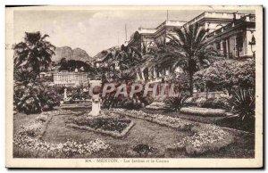 Old Postcard Menton Gardens and Casino