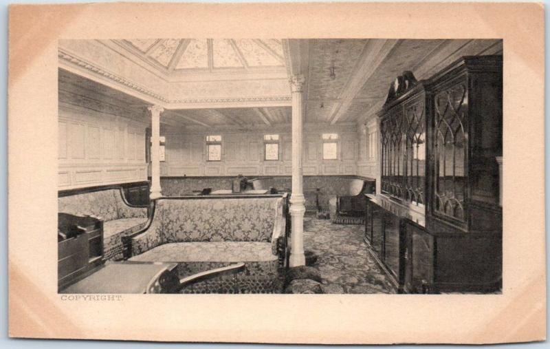 1906 S.S. MINNEHAHA Steamship Postcard Stateroom View Menu On Back *Trimmed