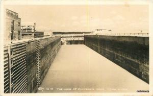 1940s Lock Pickwick Dam Tennessee River RPPC real photo postcard 11570