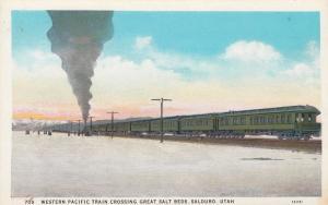 SALDURO , Utah, 1908 ; Western Pacific Railroad train