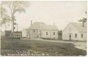 Nobleboro ME Town House Post Office Dirt Street RPPC Real Photo Postcard