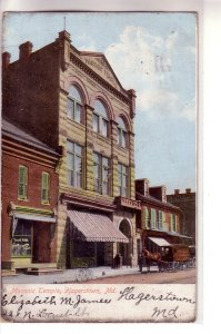 Masonic Temple, Hagerstown, Maryland ! Undivided Back, 1907 !