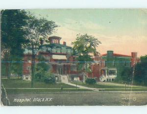 Divided-Back HOSPITAL SCENE Ithaca New York NY W3297